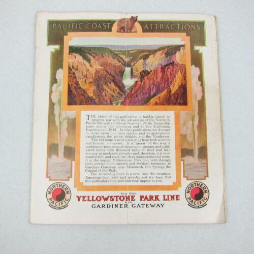 Antique 1915 San Francisco Exposition Northern Pacific Railway Ad Brochure RARE