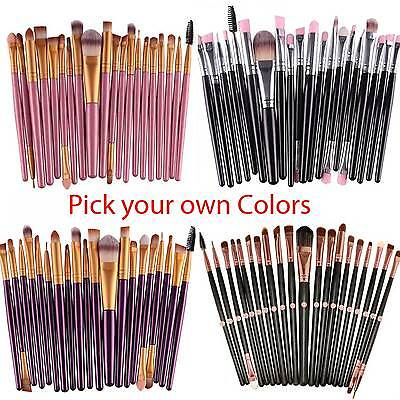 (20pcs Makeup BRUSHES Kit Set Powder Foundation Eyeshadow Eyeliner Lip Brush)