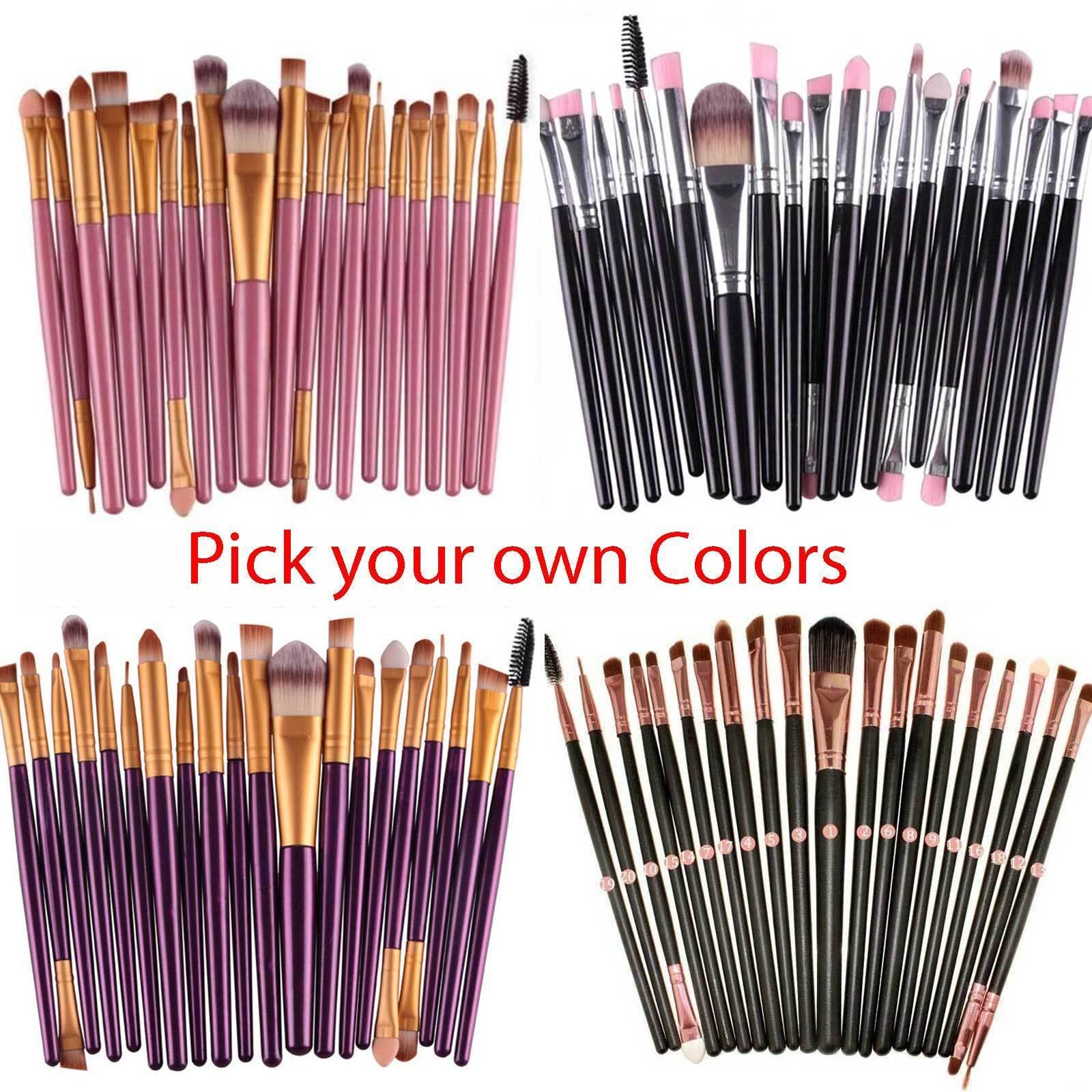 20pcs Makeup BRUSHES Kit Set Powder Foundation Eyeshadow Eyeliner Lip Brush Brushes