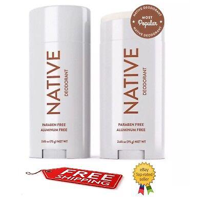 NATIVE DEODORANT COCONUT & VANILLA SCENT ALUMINUM FREE LONG LASTING (1) 2.65 OZ