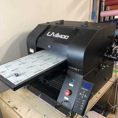 Logojet Uv2400 Flatbed Uv Printer With Rotary Attachment
