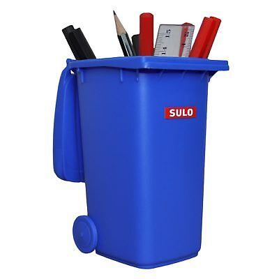 1 Stck Mini-Abfallbehälter blau Tisch-Mülltonne Sammelobjekt Sulo Stiftebehälter