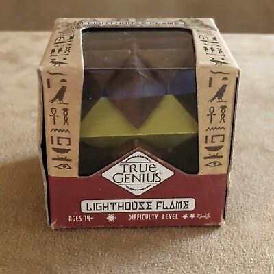 True Genius Lighthouse Flame Puzzle 3D wooden star slide in apart together