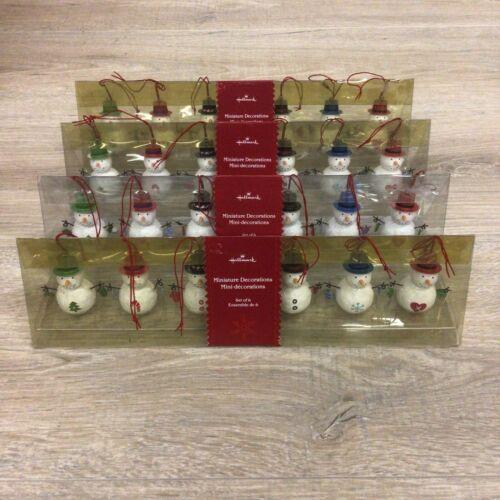 LOT OF 4 Hallmark Miniature Decorations Set of 6 Snowmen 2006 B186
