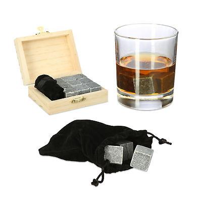 Whisky Steine Kühlsteine wiederverwendbare Eiswürfel Speckstein Kühlwürfel