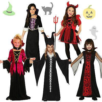r Kostüm Kinder Mädchen Hexenkostüm Teufel Fee Teufelin Kind (Vampir-mädchen Kostüme Kinder)