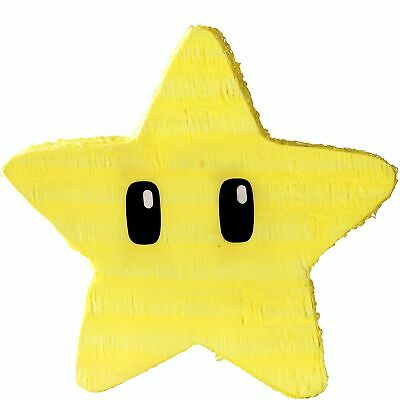 Super Mario Yellow Star Pinata Holds 2 Pounds of Candy and Filler Nintendo