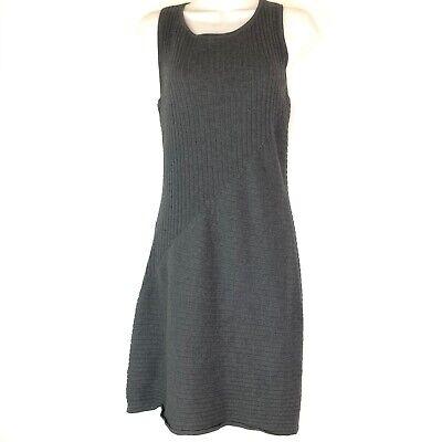Athleta Rendevous Charcoal Heather Gray Sweater Knit Sleeveless Dress Size XS