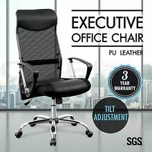 Executive High Back Mesh Computer Office Chair PU Leather Black Adelaide CBD Adelaide City Preview