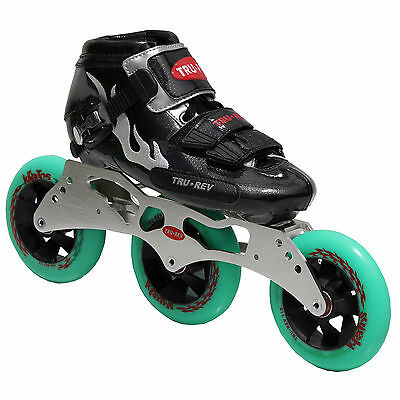Inline Speed Skates by Trurev  3 skate frame, ceramic bearings, 110mm wheels.