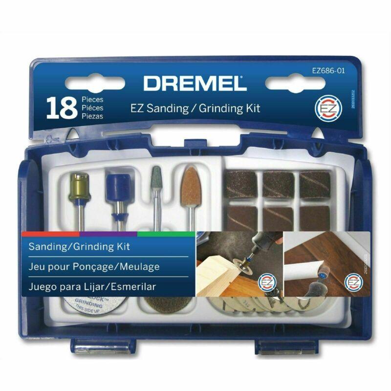 Dremel 18 Piece Sanding And Grinding Mini Accessory Set - Usa Brand