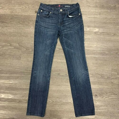 7 For All Mankind Roxanne Bootcut Jeans Girls Youth Size 12 Mid Rise Medium Wash