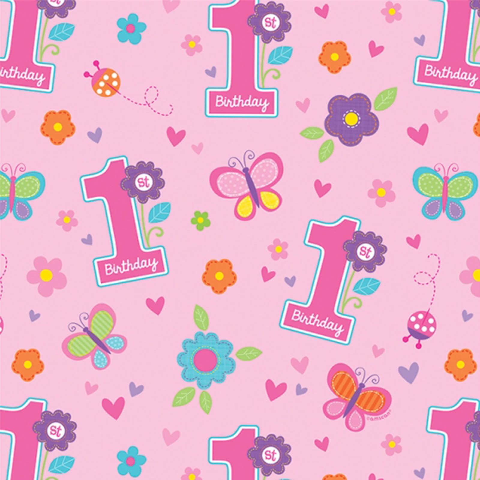 1 5m Sweet Pink Butterfly Girl S 1st Birthday Party Gift