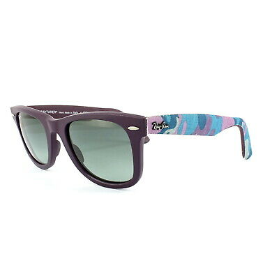 Ray-Ban Sunglasses Wayfarer 2140 606471 Violet Camo Grey Gradient Medium