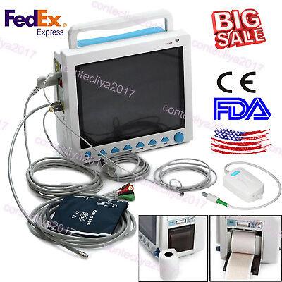 Fda Capnograph Vital Signs Icu Ccu Multiparameter Patient Monitorco2printerus