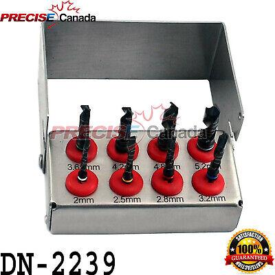 Dental Implant Drill Kit 8 Pcs Set External Irrigation Surgical Bur Holder
