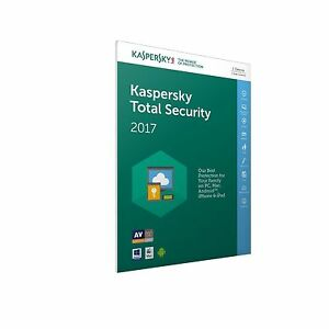 INSTANT KEY New 2017 Kaspersky Antivirus TOTAL Security ALL IN ONE/1device-UK/EU