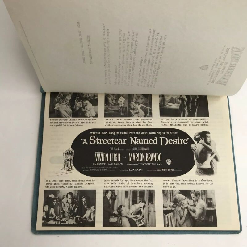 Vintage Press Book Warner Bros Pictures 1951 Advertising Streetcar Named Desire