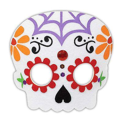 Tag der Toten Zuckerschädel Coco Filz Gesichtsmaske Kostüm Buchwoche (Zucker Schädel Maske Kostüm)