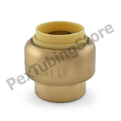 25 12 Sharkbite Style Push-fit Push To Connect Lf Brass Plugs Caps