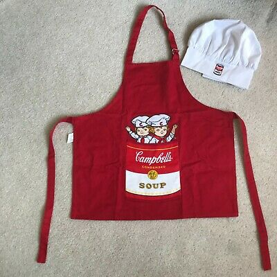 Vintage Campbell's Soup Apron and chef hat ~ Campbell's Soup Kids