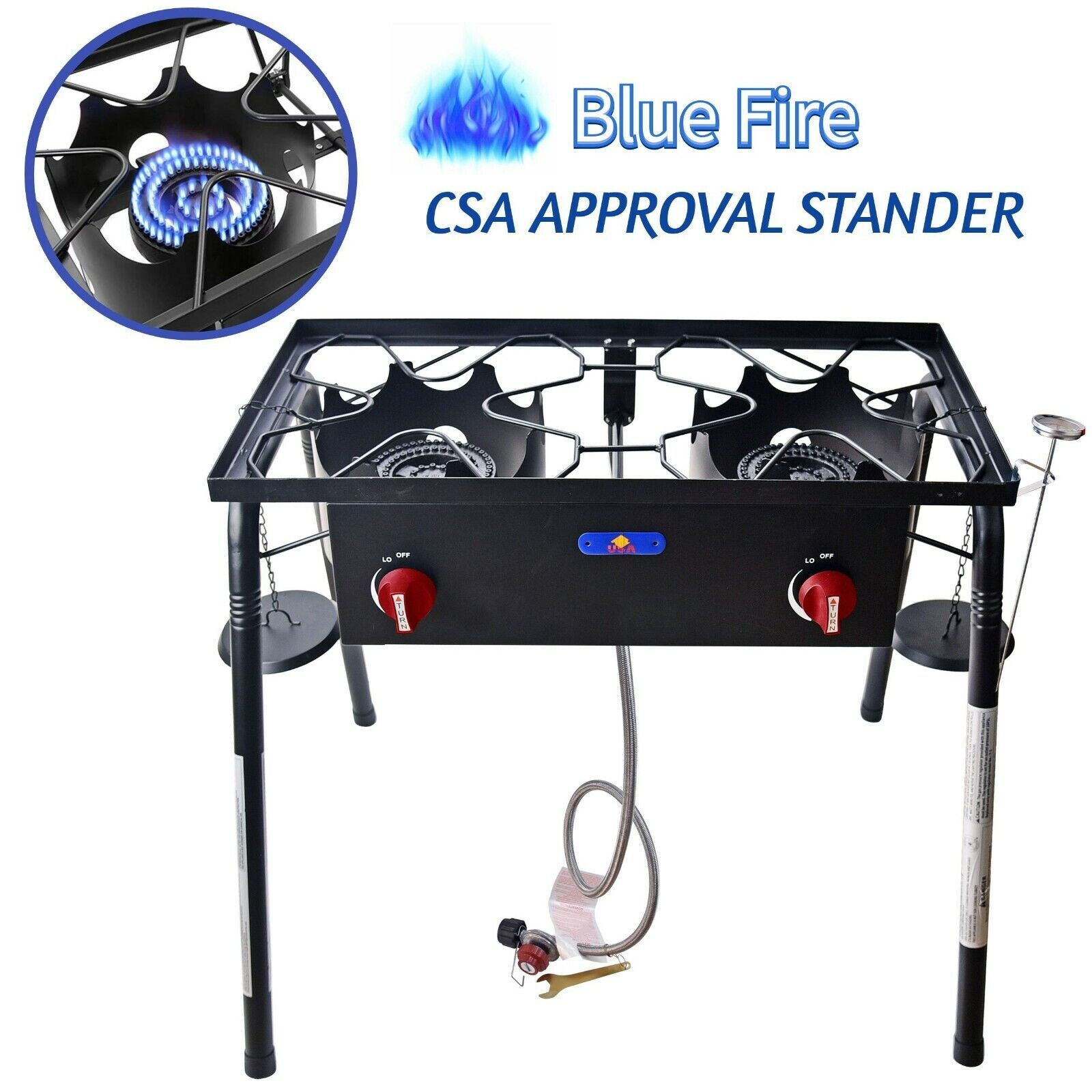 58,000 BTU Outdoor Camping Double Burner Propane Gas Stove C