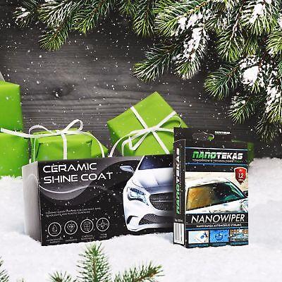 NANO CERAMIC SHINE COAT For Car Paint + Nano Wiper Hydrophobic Effect Best