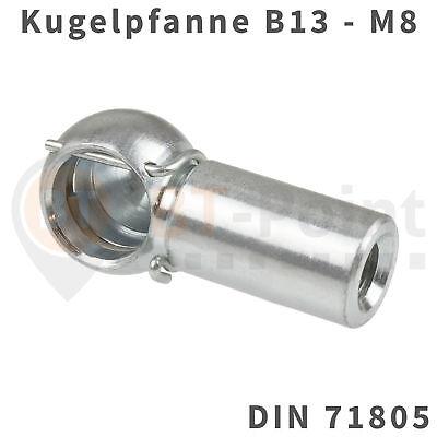 Winkel Ball (Kugelpfanne Stahl verzinkt B13 M8 DIN 71805 Sicherungsbügel Kugel Pfanne Kopf)