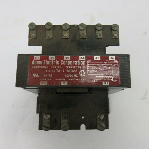 Acme Electric Corporation Control Transformer TA-1-81322 Vintage USA Made