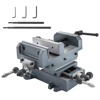 5-18 Bench Vise Clamp Compound Cross Slide Industrial Strength Cast Iron