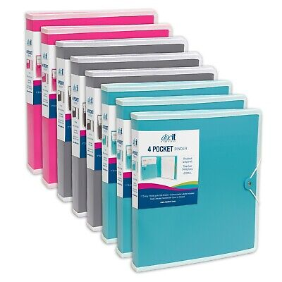 Docit 4 Pocket Binder - Available In 4 Colors
