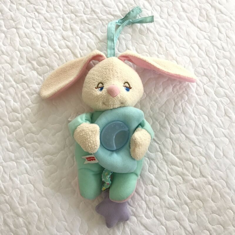 Fisher Price Soothing Surroundings Moon Glow Bunny Rabbit Musical Crib Baby Toy