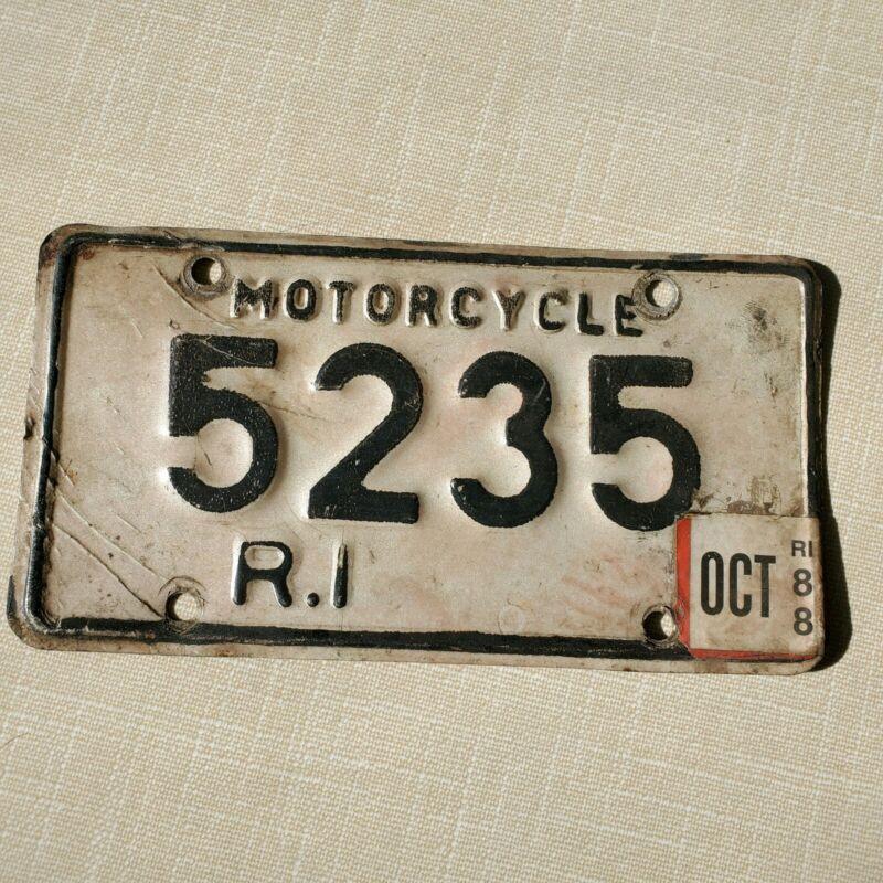 RHODE ISLAND Motorcycle License Plate