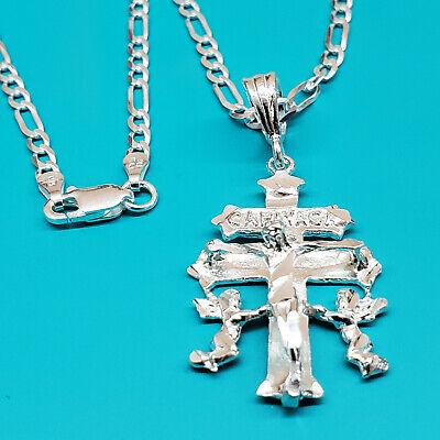 925 Sterling Silver Italy Assorted Dangling Cross Roll Link Bracelet 6 34