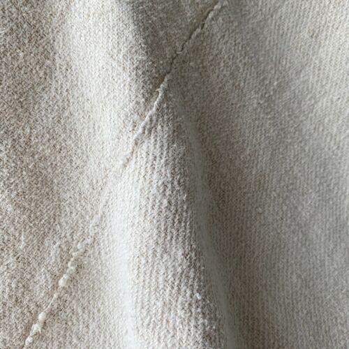 HEAVY HEMP Twill weave Antique organic throw blanket c1850 old homespun linen
