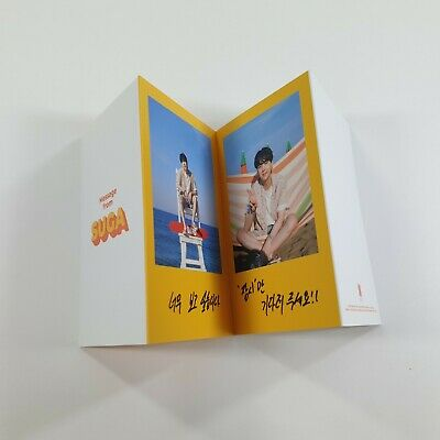BTS Butter Official Original Folded Message Card 1p SUGA K-POP Photo Card Goods