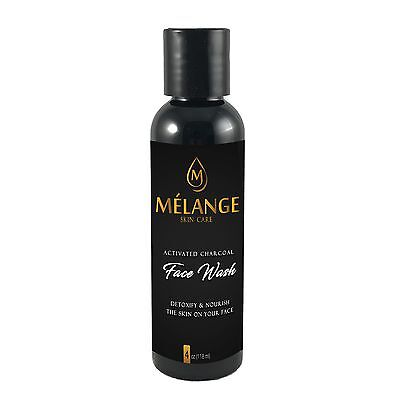 Melange Skin Care Activated Charcoal Face Wash, Cleanser 4 (Face Care Cleanser)