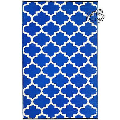 Outdoor Teppich, für außen + innen, Küche Bad Wintergarten Balkon TANGER blau ()