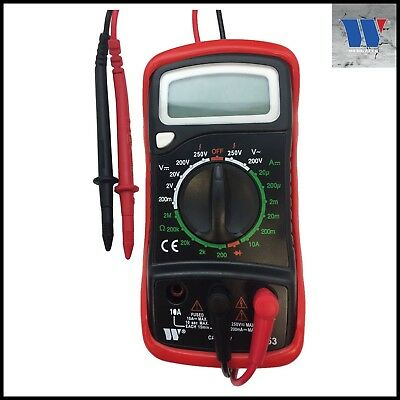 Werkzeug - Digital Multimeter, 250V AC/DC, Hold Button,CAT II - Pro Range - 4053