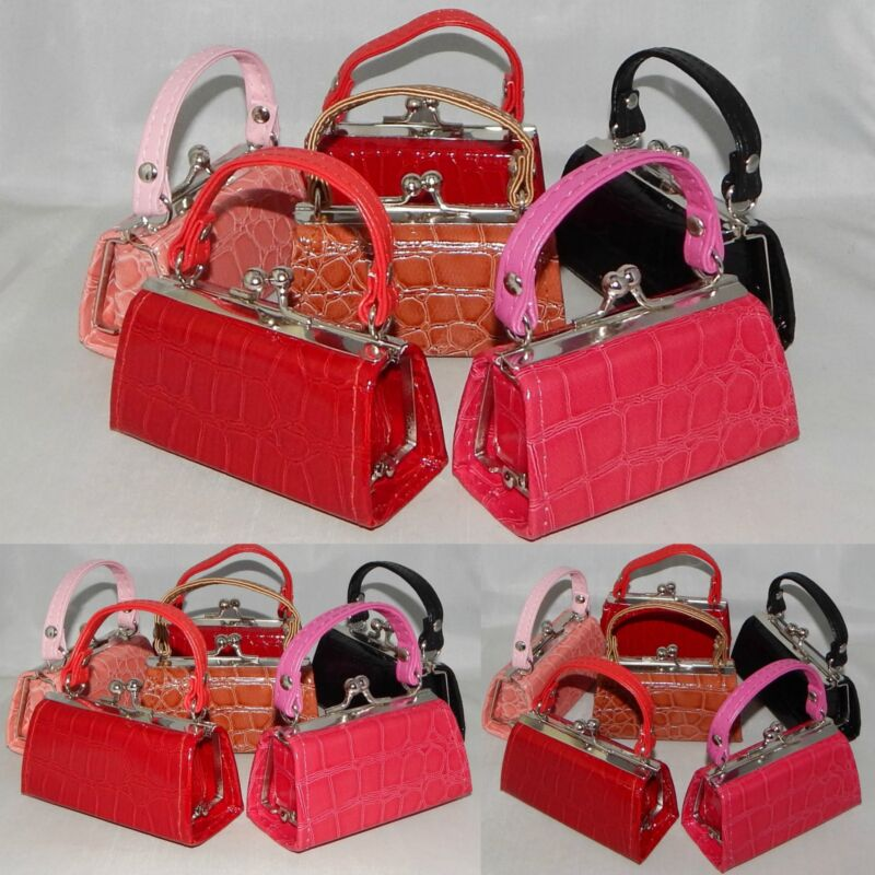 WHOLESALE Lot of 6 NEW CROC Mini Purse Lipstick Coin case PARTY FAVORS INDIANA