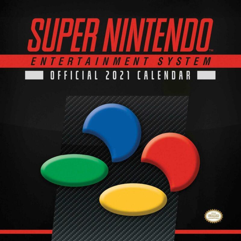 Super+Nintendo+2021+Calendar+Retro+Gaming+90s