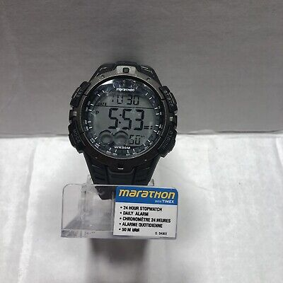 TIMEX Men's Marathon Black Indiglo Digital Sport Watch (T5K802) New Battery