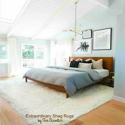 Shag Faux Fur Sheepskin Area Rug - Thick White - Square 8' x
