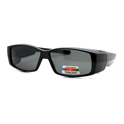 Polarized Lens Fit Over Glasses Sunglasses Light Plastic Rectangle (Rectangle Frame Glasses)