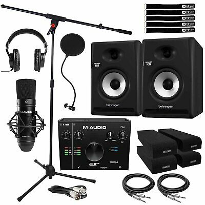 """M-Audio AIR 192X4 Pro Home Recording Interface Pack w 5"""" Studio Monitor Speakers"""