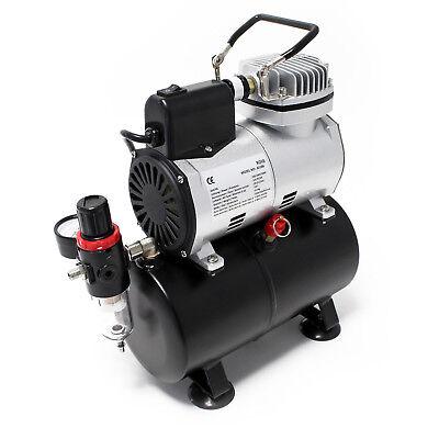 Airbrush Kompressor AF186 Lufttank Druckminderer 4 bar Start Stop Automatik