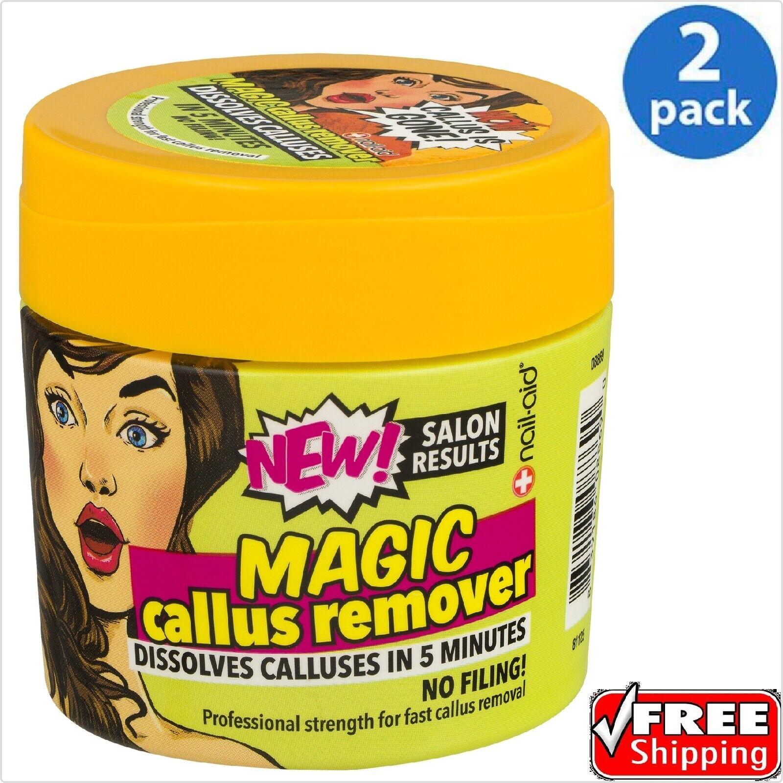 Nail-Aid ® Magic Callus Remover 4.3 Fl Oz - 2 PACK - Free 2