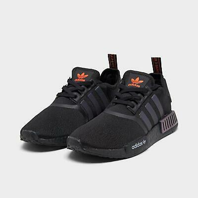 BRAND NEW IN BOX ADIDAS NMD R1 Shoes Sneakers Core Black / Solar Orange / White