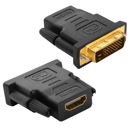 HDMI-auf-DVI-Adapter DVID-Stecker (24 + 1) zu HDMI-Buchse Gold Adapter Konverter