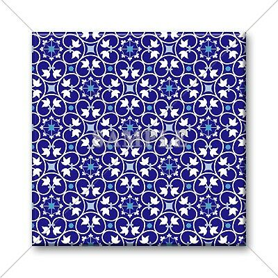 Blue Tile Design - Ceramic Tile - Moroccan Tile Design Blue White Pattern Kitchen Bathroom #14